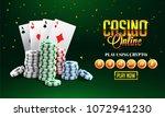 golden text casino online with...   Shutterstock .eps vector #1072941230