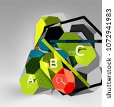 3d hexagon geometric... | Shutterstock .eps vector #1072941983