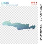 crete polygonal  mosaic style... | Shutterstock .eps vector #1072943024