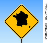 france map road sign. square... | Shutterstock .eps vector #1072943063