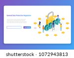 general data protection... | Shutterstock .eps vector #1072943813