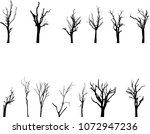 vector black silhouette of a... | Shutterstock .eps vector #1072947236