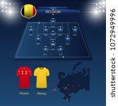 team belgium soccer jersey or... | Shutterstock .eps vector #1072949996