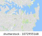 vector color map of downtown... | Shutterstock .eps vector #1072955168