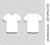 white men's t shirt template v...   Shutterstock .eps vector #1072961720