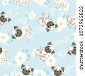 vector seamless pattern with... | Shutterstock .eps vector #1072963823