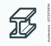 i beam steel bar vector icon | Shutterstock .eps vector #1072970954