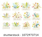 cute and elegant vector floral... | Shutterstock .eps vector #1072973714