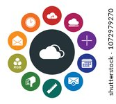 cloud and networking  cursors ... | Shutterstock .eps vector #1072979270