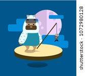 fishing tribe character flat...   Shutterstock .eps vector #1072980128