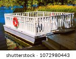 a ferry to transport guests to... | Shutterstock . vector #1072980443
