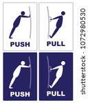 push pull.cartoon actions of a... | Shutterstock .eps vector #1072980530