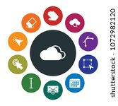 cloud and networking  cursors ... | Shutterstock .eps vector #1072982120