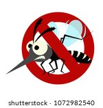 mosquito prohibited warning... | Shutterstock .eps vector #1072982540