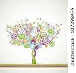 tree with circle colorful... | Shutterstock .eps vector #107298479