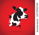 abstract cow head  | Shutterstock .eps vector #1072990769
