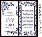romantic invitation. wedding ... | Shutterstock . vector #1072990886
