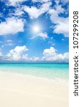 beautiful beach and tropical sea | Shutterstock . vector #107299208