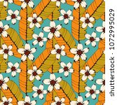 seamless pattern with tropical... | Shutterstock .eps vector #1072995029