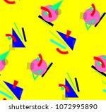 colorful geometric avant garde... | Shutterstock .eps vector #1072995890