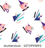 colorful geometric avant garde... | Shutterstock .eps vector #1072995893