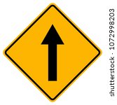 go straight traffic sign vector ... | Shutterstock .eps vector #1072998203