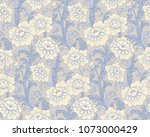 victorian style pattern with... | Shutterstock .eps vector #1073000429