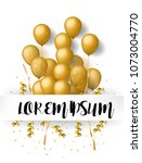 white celebration greeting card  | Shutterstock .eps vector #1073004770