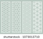 decorative geometric line... | Shutterstock .eps vector #1073013710