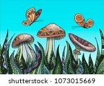 vector illustration in the...   Shutterstock .eps vector #1073015669