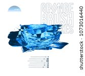 blue brush stroke and texture....   Shutterstock .eps vector #1073016440