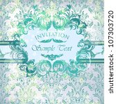 vector damask background with... | Shutterstock .eps vector #107303720