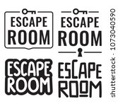 escape room. badges  icons ... | Shutterstock .eps vector #1073040590
