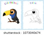 coloring book page for ... | Shutterstock .eps vector #1073040674