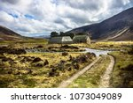 scottish rural landscape in... | Shutterstock . vector #1073049089