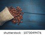 Fried Coffee Beans In A Sackbag ...