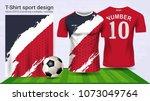 soccer jersey and t shirt sport ...   Shutterstock .eps vector #1073049764