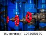 water valve sprinkler and fire... | Shutterstock . vector #1073050970