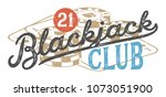 blackjack vintage design for... | Shutterstock .eps vector #1073051900