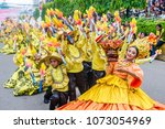 Small photo of CEBU , PHILIPPINES - JAN 21 : Participants in the Sinulog festival in Cebu city Philippines on January 21 2018. The Sinulog is the centre of the Santo Niño Catholic celebrations in the Philippines.