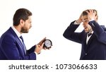 boss with serious face caught... | Shutterstock . vector #1073066633