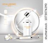 hyaluronic acid serum collagen...   Shutterstock .eps vector #1073076290