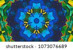 geometric design  mosaic of a... | Shutterstock .eps vector #1073076689