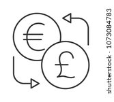 euro and british pound currency ... | Shutterstock . vector #1073084783
