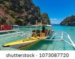 coron palawan philippines april ...   Shutterstock . vector #1073087720