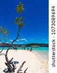 coron palawan philippines april ...   Shutterstock . vector #1073089694