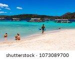 coron palawan philippines april ...   Shutterstock . vector #1073089700