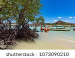 coron palawan philippines april ...   Shutterstock . vector #1073090210