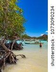 coron palawan philippines april ...   Shutterstock . vector #1073090234