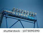 floodlight mast with some... | Shutterstock . vector #1073090390